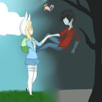 Fionna X Marshall Lee by Yoru798