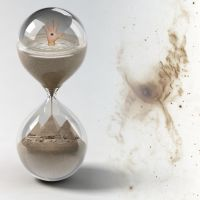 hourglass in nebulous infinity by ICONcreations