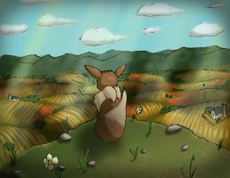 Little Eevee on a Prarie by EndlessAges