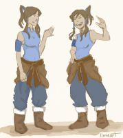 Modern Korra?? by compoundbreadd