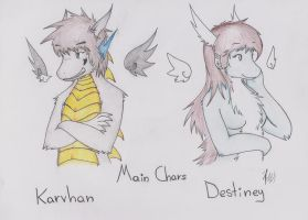 Main Characters- Karvhan and Destiney by Dragon-Wish