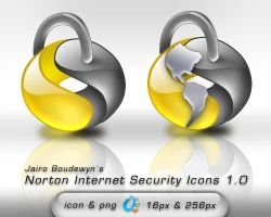 Norton Internet Security Icons by weboso