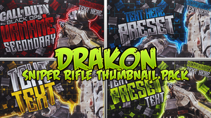Black Ops III - Drakon Thumbnail Template Pack by AcezProduction