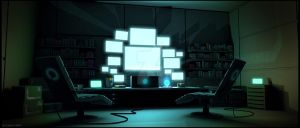 Cyber Cowboy HQ by artificialdesign