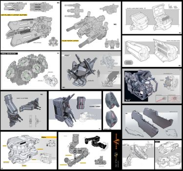 Weapons and parts by KaranaK