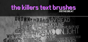 PS Brushes - The Killers by erithegreat