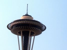 space needle by looking4myleopard