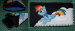 MLP Rainbow Dash felt phone case by Blindfaith-boo
