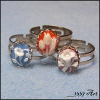 Cameo Rings by 1337-Art