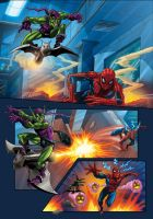 The Green Goblin attacks...... by Simon-Williams-Art