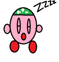 Sleeping Kirby by mauveamygirl