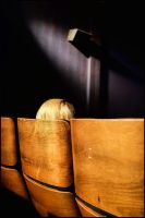 Blond woman in a movie theater by SUDOR