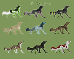 .: Wolves adoptables CLOSED :. by Eredhys