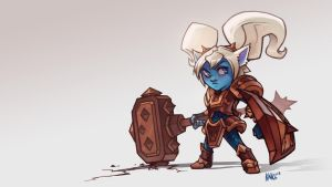 Poppy League of Legends. KNKL by Knockwurst