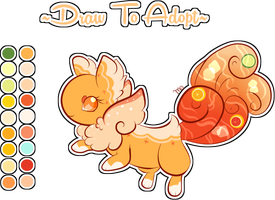 .:Draw To Adopt:. Tropix Sangria Ginet -Closed- by Ambercatlucky2