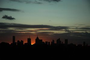 Sunset Over Melbourne by XMartini23
