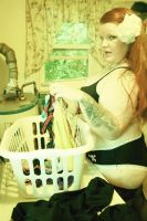 Laundry Room Pinup by SynfulDame
