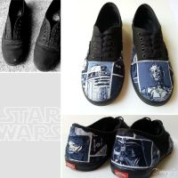 Star Wars Shoes II by LnknPrk7Snoopy