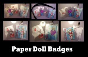 Paper Doll Badges by MischievousPooka