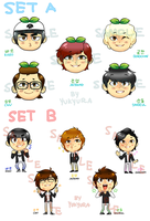 B1A4 Sticker Sets by yukyura