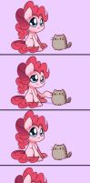 Pinkie VS Pusheen by Bukoya-Star