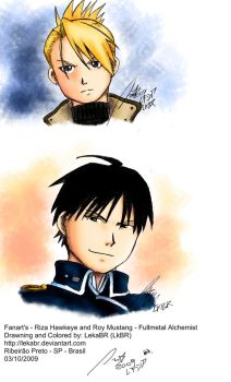 FanArt-Roy and Riza -colored by lekabr