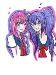Minami and Princess Bubblegum by NENEBUBBLEELOVER