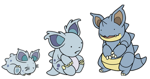 Nidoran to Nidoqueen by HappyCrumble