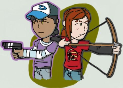 Clem and Ellie by Codexmas