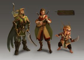Robin Hood and his Merry Men by Rozen-Clowd