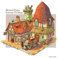Richard Potter Exterior TV Shop - Colored by nagisadreamer