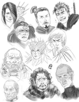 Sketchbook - Faces by Changinghand