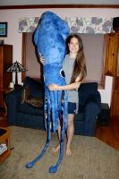 Giant Space Squid Plush (Finished!) by jadestonethedragon