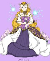 Lovely Princess Zelda: colors by Little-Katydid