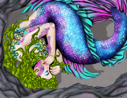 Sleeping Mermaid by Decorus-Somnium