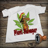 Funny T-shirt - Plant Manager by DiegoArragon