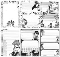 [Old] My artworks Since 1999 - 05 Letter Set by TashaChan