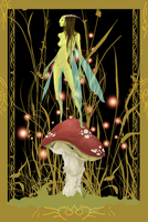 fairy and mushroom 3 by wilovil