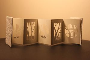Miniature book/paper cut out branches by izibel1