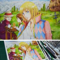 Howl's Moving Castle Fan Art by KawtherSan