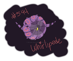 Whirlipede Doodle by yellowy-yellow