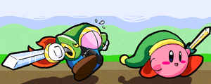 Kirby and Blade by SillyaParrot