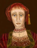 Nothing so Fair: Portrait of Anne Cleves by almalee