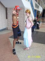 Nami and Ace cosplay by megamono