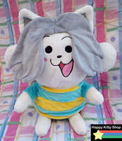Temmie Plush by QueenBeePlush