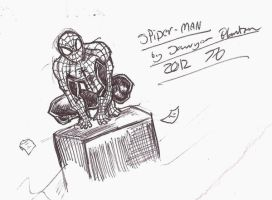 Pen sketches: Spiderman by Skullsketcher