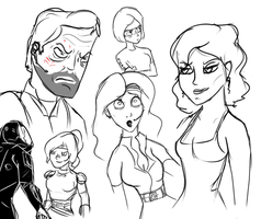 Taking a Sketch Dump #2 by Space-Sweeper