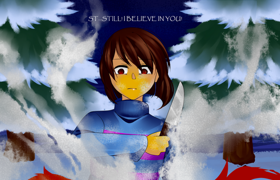 [Fanart] Undertale: STILL! I BELIEVE IN YOU! by TheTimeLimit