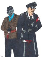 Colonel Herzog And Major Stubbe by rockofmarduk