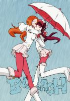 Orihime and Riruka by X-Ray99